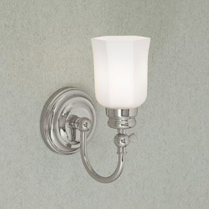 Emily Chrome Single Light Wall Sconce