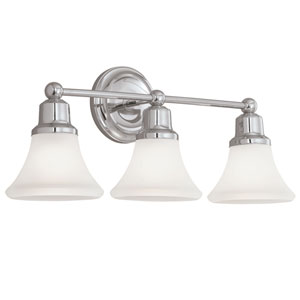 Elizabeth Polished Nickel Three-Light Wall Sconce