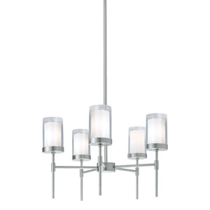 Kimberly Brushed Nickel Five-Light Chandelier