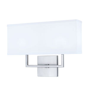 Maxwell Brushed Nickel Two-Light Vanity
