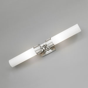 Astro Brushed Nickel Two Light Wall Sconce