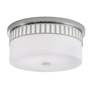 Astro Polished Nickel LED Flush Mount