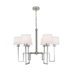Maya Brushed Nickel Six-Light Chandelier