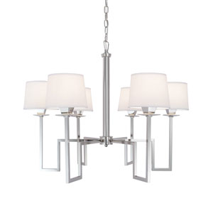 Maya Polished Nickel Six-Light Chandelier