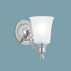 Sienna Chrome Single Light Wall Sconce