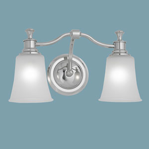 Sienna Chrome Two Light Wall Sconce