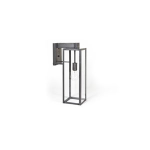 Uptown Dark Brass Six-Inch One-Light Outdoor Wall Mount with Clear Seedy Glass