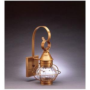 Onion Dark Brass Eight-Inch One-Light Outdoor Wall Mount