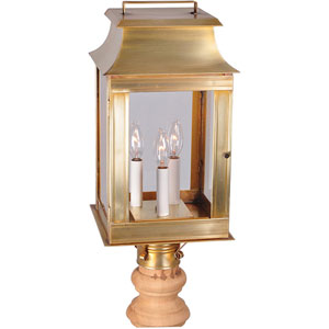 Concord Antique Brass Nine-Inch Three-Light Outdoor Wall Mount