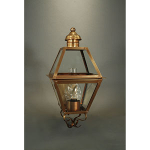 Boston Verdi Gris 10.5-Inch One-Light Outdoor Wall Sconce with Clear Glass
