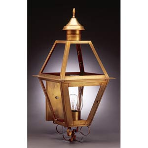 Antique Brass Outdoor Wall Lantern with Clear Glass