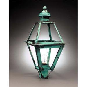 Verdi Gris Clear Colonial Lantern