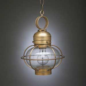 Antique Brass Caged Onion Mini Pendant
