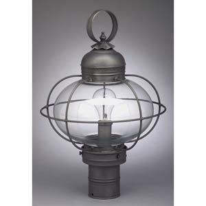 Dark Brass Large Caged Onion Outdoor Post-Mount Lantern