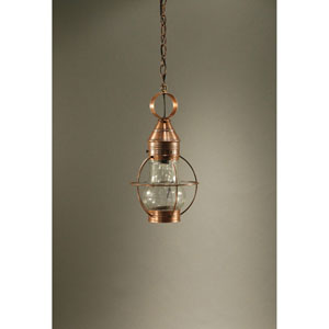 Bosc Antique Copper 9-Inch One-Light Pendant with Optic Glass