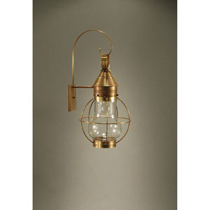 Bosc Antique Brass 11-Inch One-Light Outdoor Wall Sconce with Clear Glass