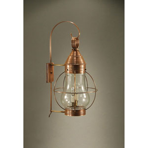 Bosc Dark Antique Brass 13-Inch Two-Light Outdoor Wall Sconce with Clear Glass