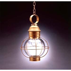 Small Antique Brass Outdoor Hanging Lantern