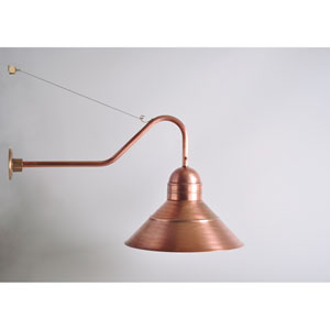 Barn Antique Copper One-Light Outdoor Wall Mount