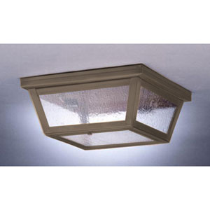 Medium Dark Brass Williams Ceiling Lantern with Seedy Marine Glass