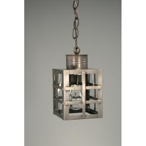 Suffolk Dark Brass One-Light Outdoor Pendant with Clear Glass