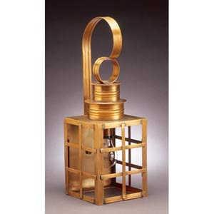 Medium Antique Brass H-Bars Outdoor Wall Lantern