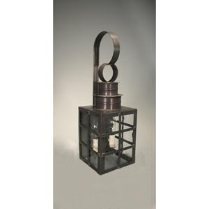 Suffolk Dark Brass Two-Light Outdoor Wall Light with Clear Seedy Glass