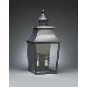 Medium Dark Brass Pagoda Outdoor Wall Lantern with Clear Seedy Glass