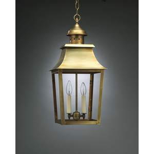 Medium Antique Brass Pagoda Outdoor Hanging Lantern