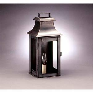 Small Dark Brass Concord Outdoor Wall Lantern