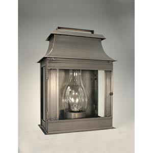 Concord Dark Brass One-Light Outdoor Wall Light with Clear Glass