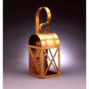 Medium Antique Brass X-Bar Wall Lantern