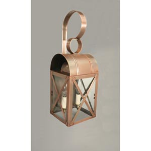 Adams Antique Copper Two-Light Outdoor Wall Light with Clear Glass