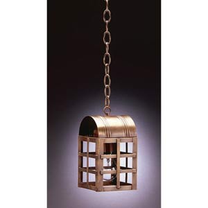 Small Antique Brass Adams Outdoor Hanging Lantern
