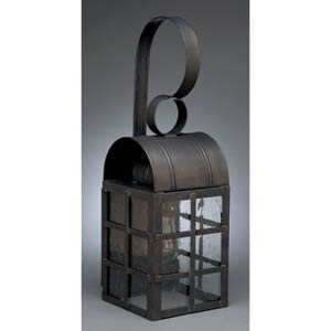 Adams Dark Brass Medium Outdoor Wall Lantern