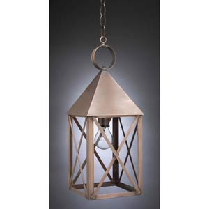 Medium Antique Copper Pyramid Outdoor Lantern