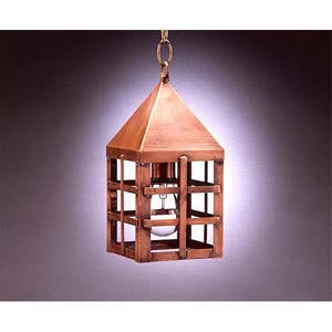 Small Antique Copper York Hanging Lantern