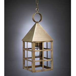 Medium Antique Brass York Hanging Lantern