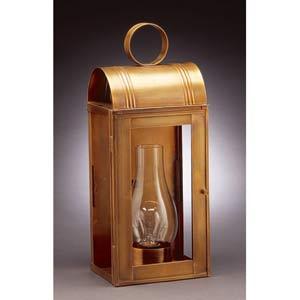 Large Antique Brass Livery Medium Base Wall Lantern