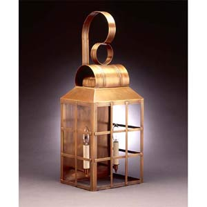 Large Antique Brass Woodcliffe Outdoor Wall Lantern