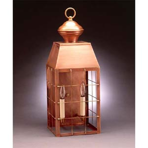 Large Antique Copper Plantation Outdoor Wall Lantern