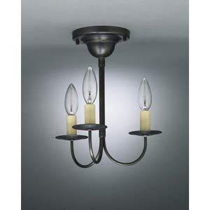 Dark Brass J-Arm Semi-Flush Ceiling Fixture