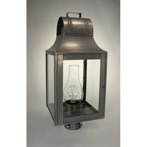 Livery Dark Brass One-Light Outdoor Post Light with Clear Glass
