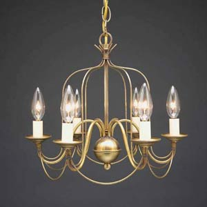 Antique Brass Bird Cage Mini Chandelier