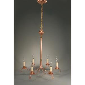 Antique Copper Six-Light Chandelier