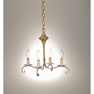 Antique Brass Four-Light Chandelier
