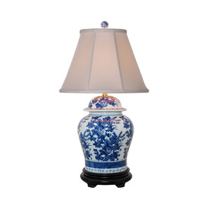 Blue and White Temple Jar Lamp