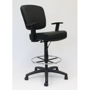 Boss 27-Inch Black Oversized Drafting Stool