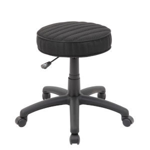 Black 25-Inch the Ribbed Dot Stool