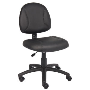 Boss 25-Inch Black Posture Chair